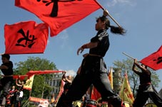 Xia Quan Tai Chi Kung Fu Nederland Rotterdam group flags