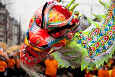 Dragon & lion dance Chinese New Year Rotterdam 2010