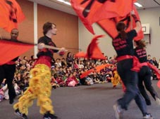 lion dance Kung Fu Tai Chi show Chinese New Year 2011
