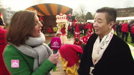 "TV RTL ""Koffietijd"": Xia Quan Kung Fu Tai Chi Lion dance for Chinese New Year 2016"