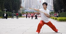 Kung Fu Team Morning training China