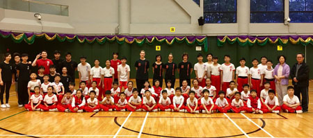Dutch Xia Quan girls train with the Hong Kong Xia Quan