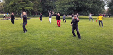Outdoor Tai Chi Jian lesson 29-06-2020
